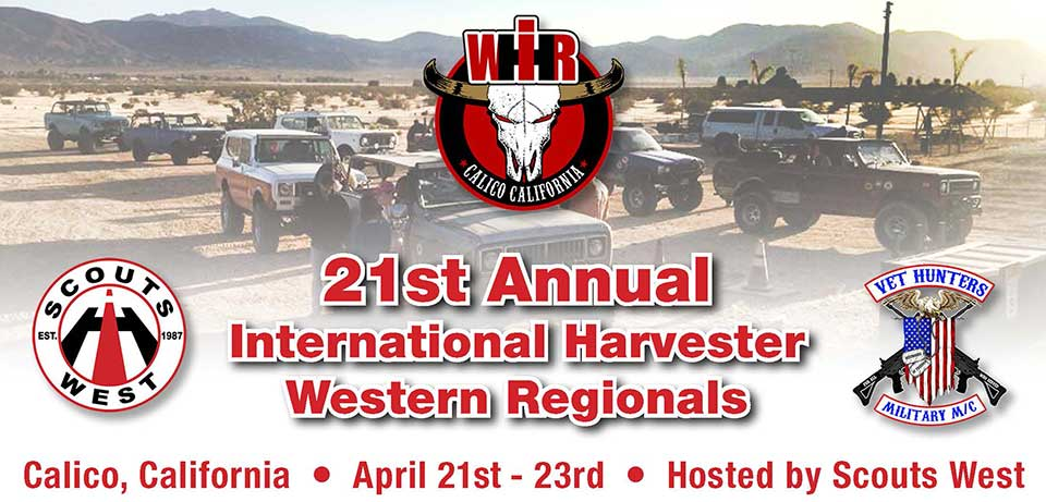 The 2017 International Harvester Western Regionals will be April 21-23, 2017